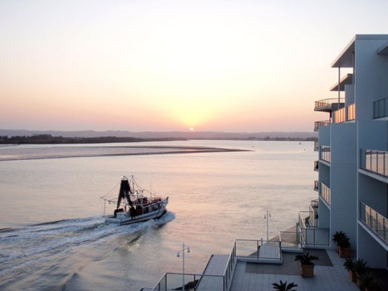 Sunset on the Richmond River from Ramada Hotel & Suites