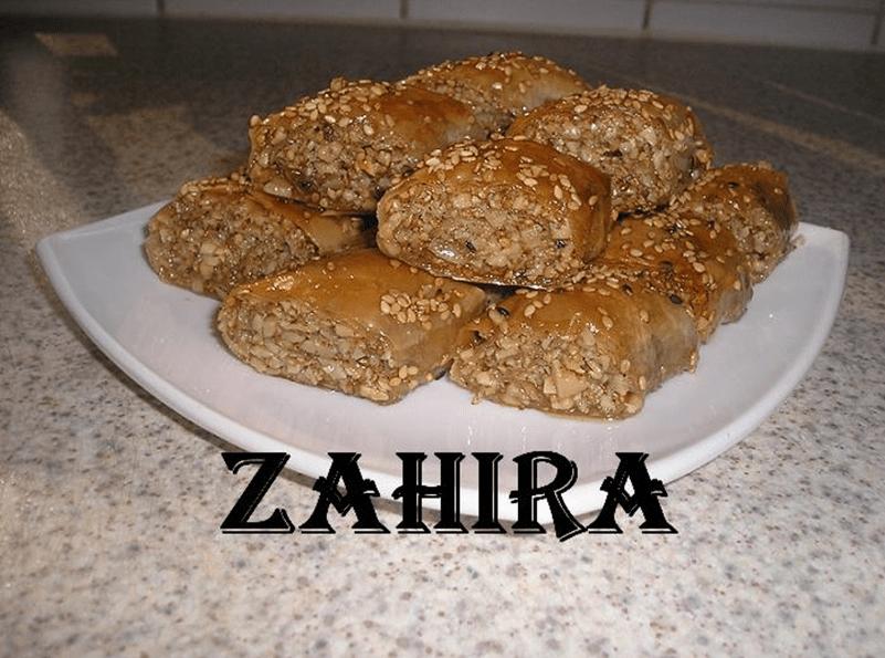 Baklava met amandelen en sesam