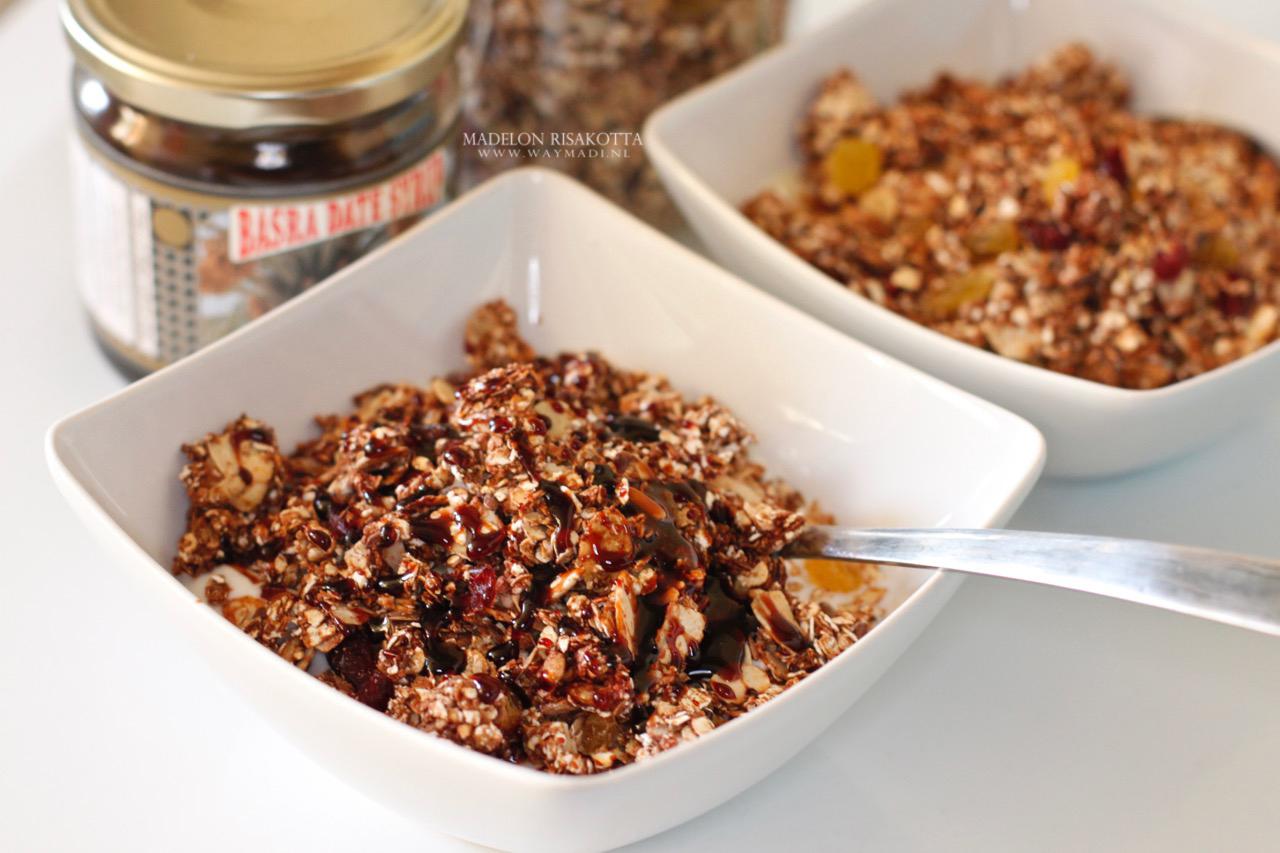 homemade granola met dadelstroop