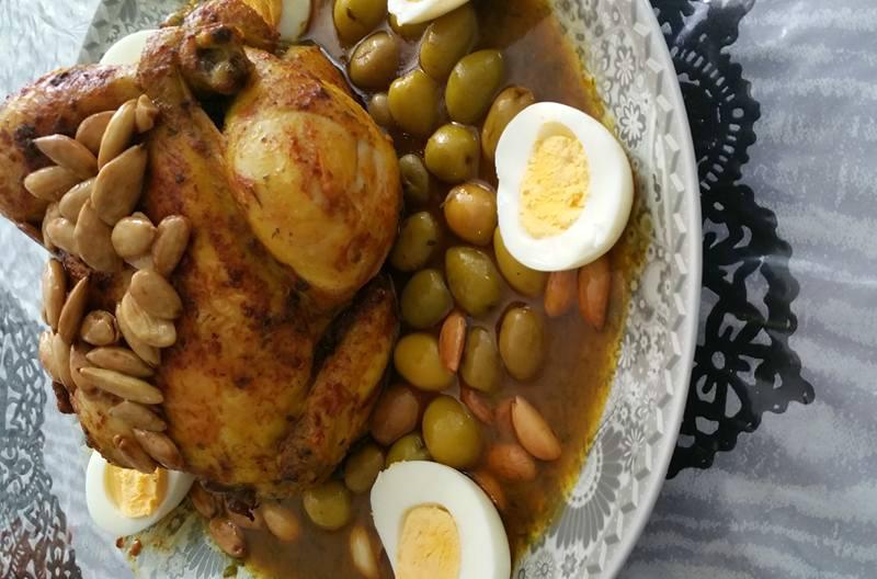 Marokkaanse kip uit de oven met zitoen