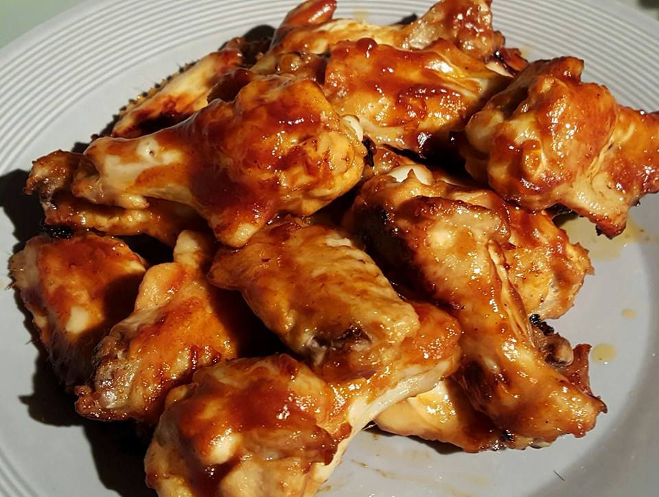Honing-mosterd kippenvleugels