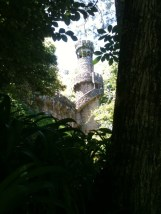 Quinta de Regaleira in the gardens.