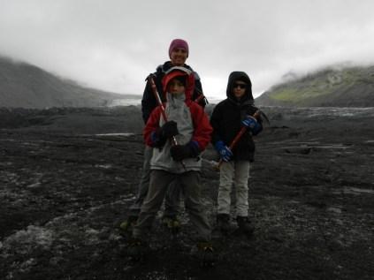 Adventuring on Svinafellsjokull glacier.