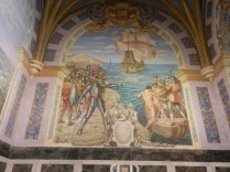 Wall in chapel where Pizarro is buried.