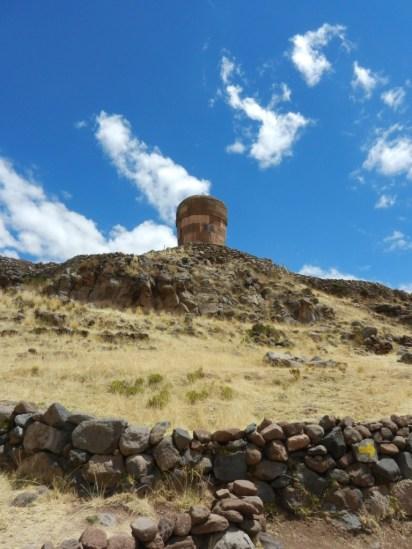 Sillustani burial tower.