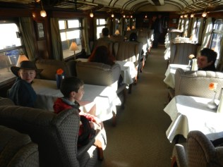 Inside the Andean Explorer.