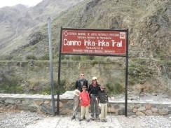 The Start of the Inca Trail to Machu Picchu.