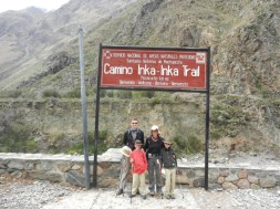 The Start of the Inca Trail to Machu Picchu.