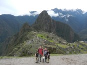 At the end of the Inca Trail at Machu Picchu.