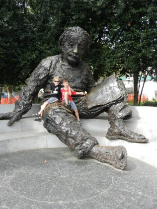 Sitting with Einstein.