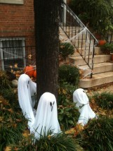 Ghosts round a tree.