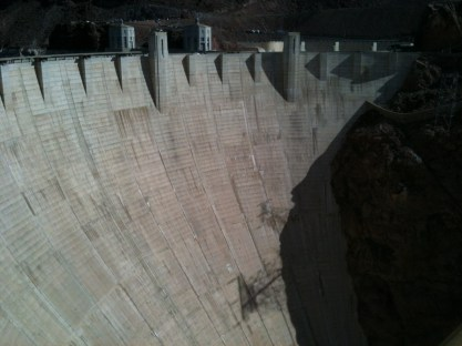 Hoover Dam wall.