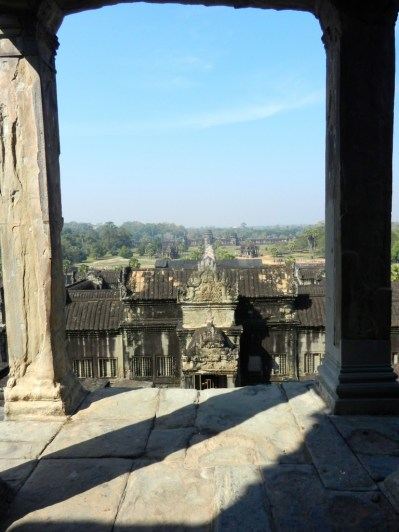 From the top of Angkor Wat.