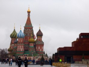 St Basil's and Lenin's Mausoleum.