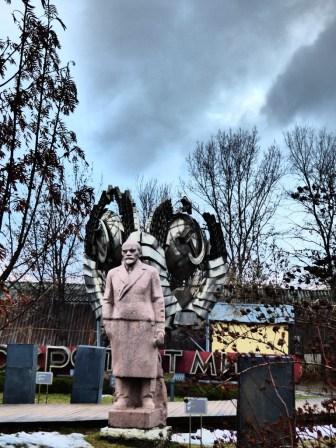Lenin statue.