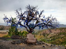 Evil eye tree above the Valley of the Pigeons.