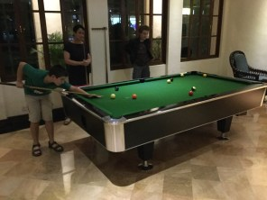 Playing pool in Mandalay.