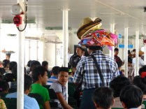 Hat seller on the Dala ferry.