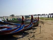 Boats and teak bridge.