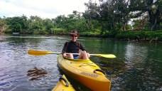 Callum kayaking.