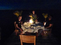 Dinner on the jetty.