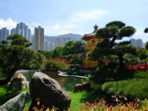 Chinese garden in Hong Kong.