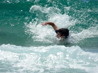 Dec body-surfing.