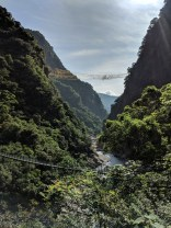 Taroko Gorge - spot the high bridge.