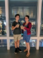 Bubble tea at the top of Taipei 101.