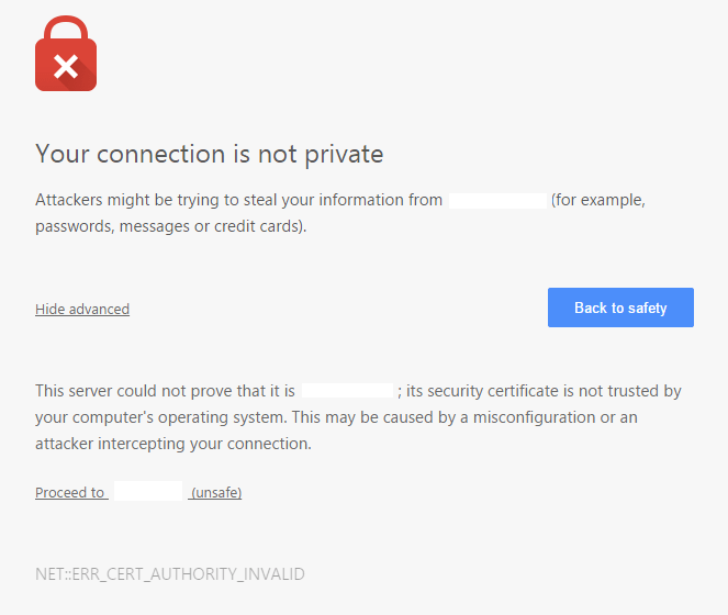 DrayTek SSL Chrome SSL Error