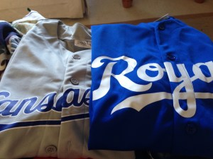 A couple of giveaway jerseys