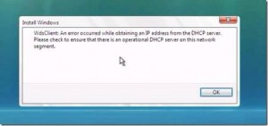 WdsClient - An error occurred while obtaining an IP address