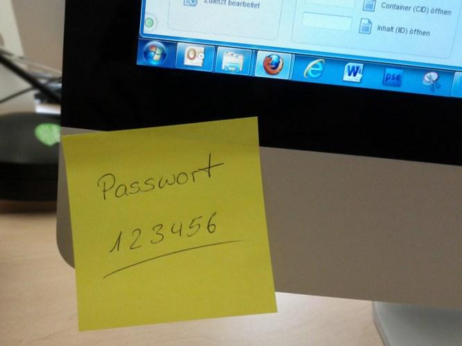Password on post-it