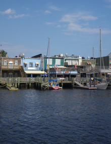 Georgetown, SC waterfront. There is a nice boardwalk along the waterfront with access to the stores and restaurants.