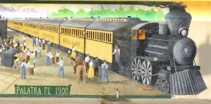train mural in Palatka