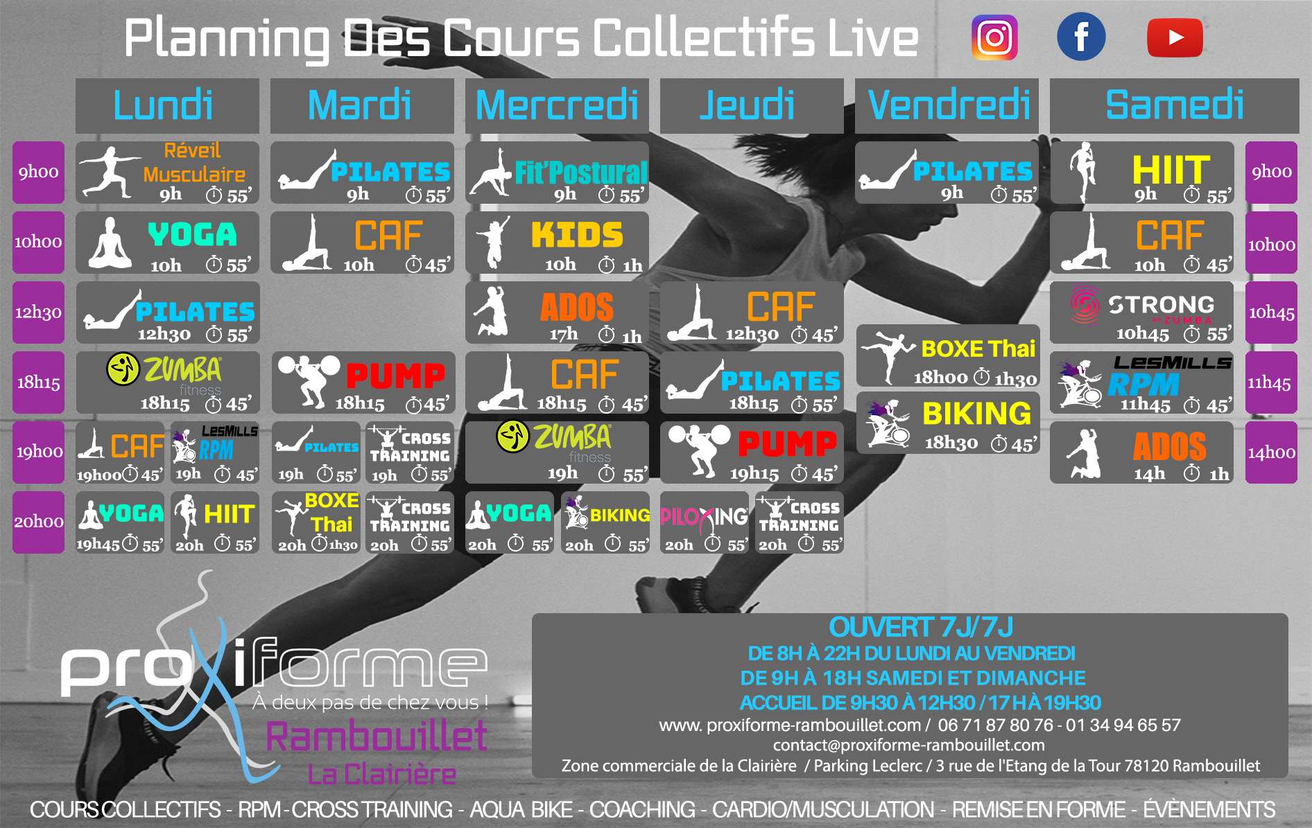 planning cours fitness