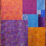 Around the Block Modern Quilt Handmade