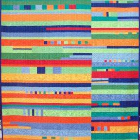 Bahama Bungalow Modern Quilt Handmade