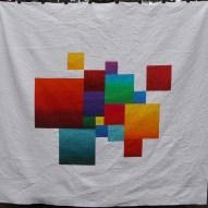 Block Modern Quilt Handmade Front