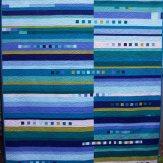 Blue Spruce Modern Quilt Handmade
