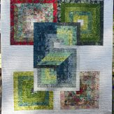 Bohemian Square Modern Quilt Handmade