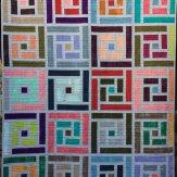 Chalk Art Modern Quilt Handmade