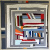 Color Clips Wall Hanging Modern Quilt Handmade