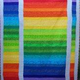 Color Wave Modern Quilt Handmade