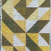 Daffodil Modern Quilt Table Runner Handmade