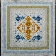 Desert Hush Modern Quilt Handmade Front