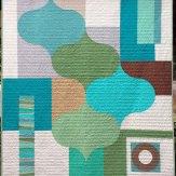 Eucalyptus Modern Quilt Handmade