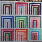 Frames Modern Quilt Handmade