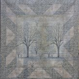 Frosted Trees Modern Quilt Handmade