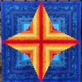 Hearth Glow Modern Quilt Handmade